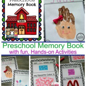 Cute Preschool Memory Book with Hands-on activities. #preschool #kindergarten #memorybook