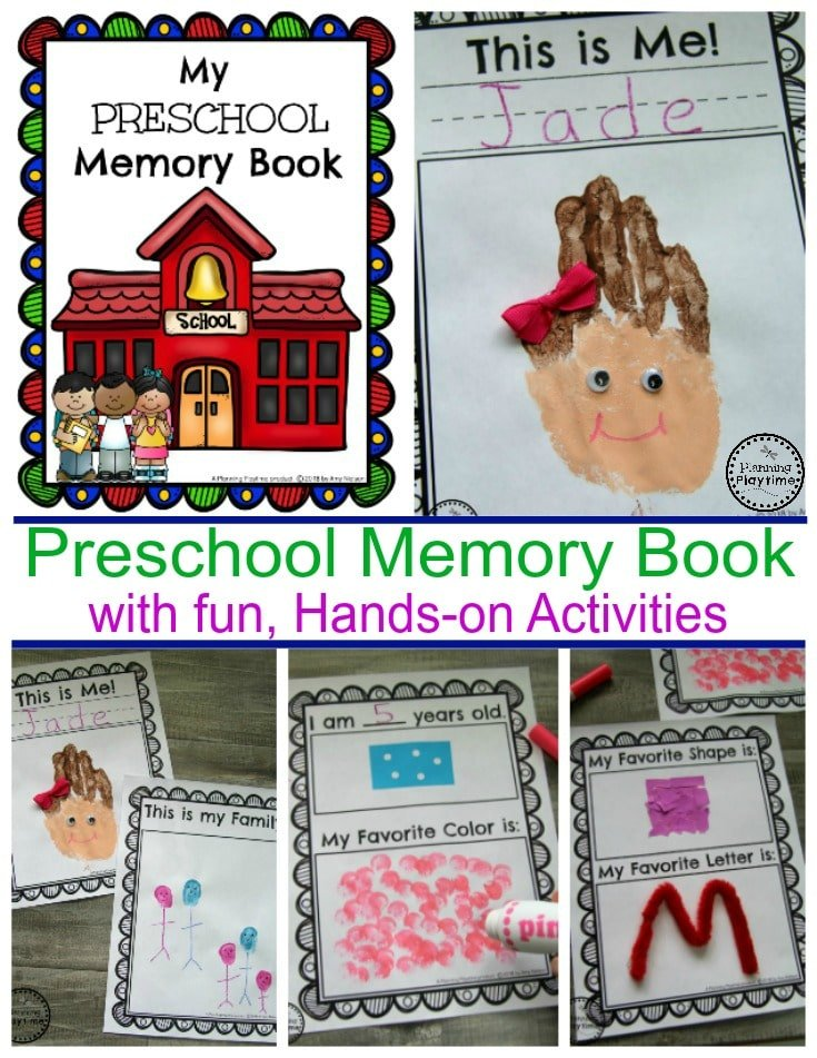preschool memory book planning playtime. Black Bedroom Furniture Sets. Home Design Ideas