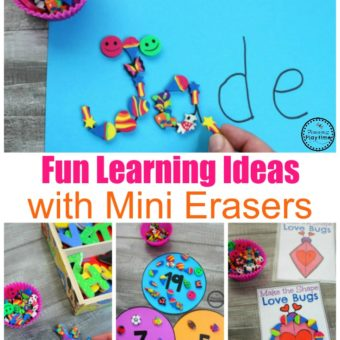 Fun Learning Games with Mini Erasers #preschool #minierasers #kindergarten #funlearning #planningplaytime