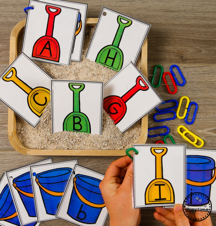 Fun Letter Matching Activity for Preschool - Ocean Theme #alphabet #letterrecognition #preschool #oceantheme #preschoolactivities #preschoolcenters #planningplaytime