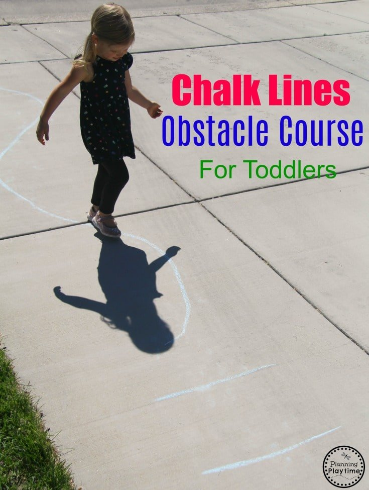 Obstacle Course for Kids and Toddlers - Gross Motor Toddler Activities for summer #toddler #toddleractivities #ideasfortoddlers #planningplaytime #ad #outdoorplay #summerfun