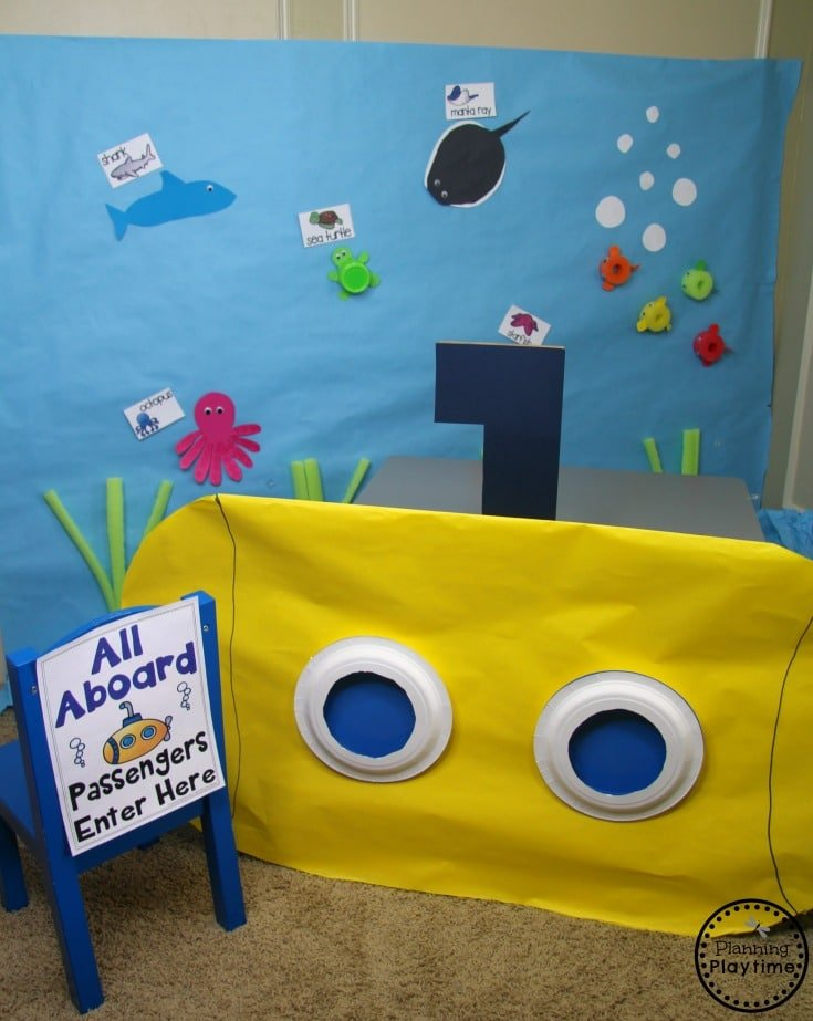 Ocean Theme Dramatic Play for Preschool #preschool #dramaticplay #underthesea #oceantheme