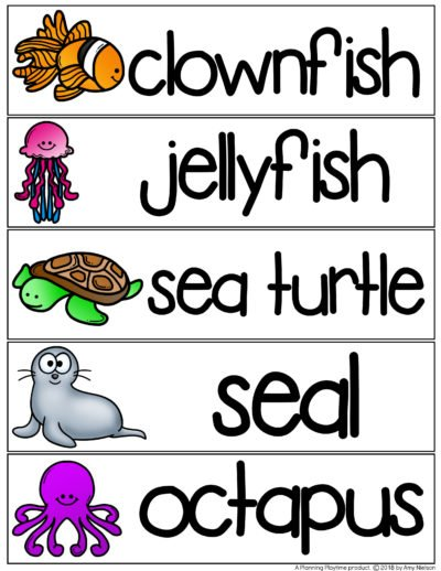 Ocean Words Writing Centers - Preschool Activity #preschool #writingcenters