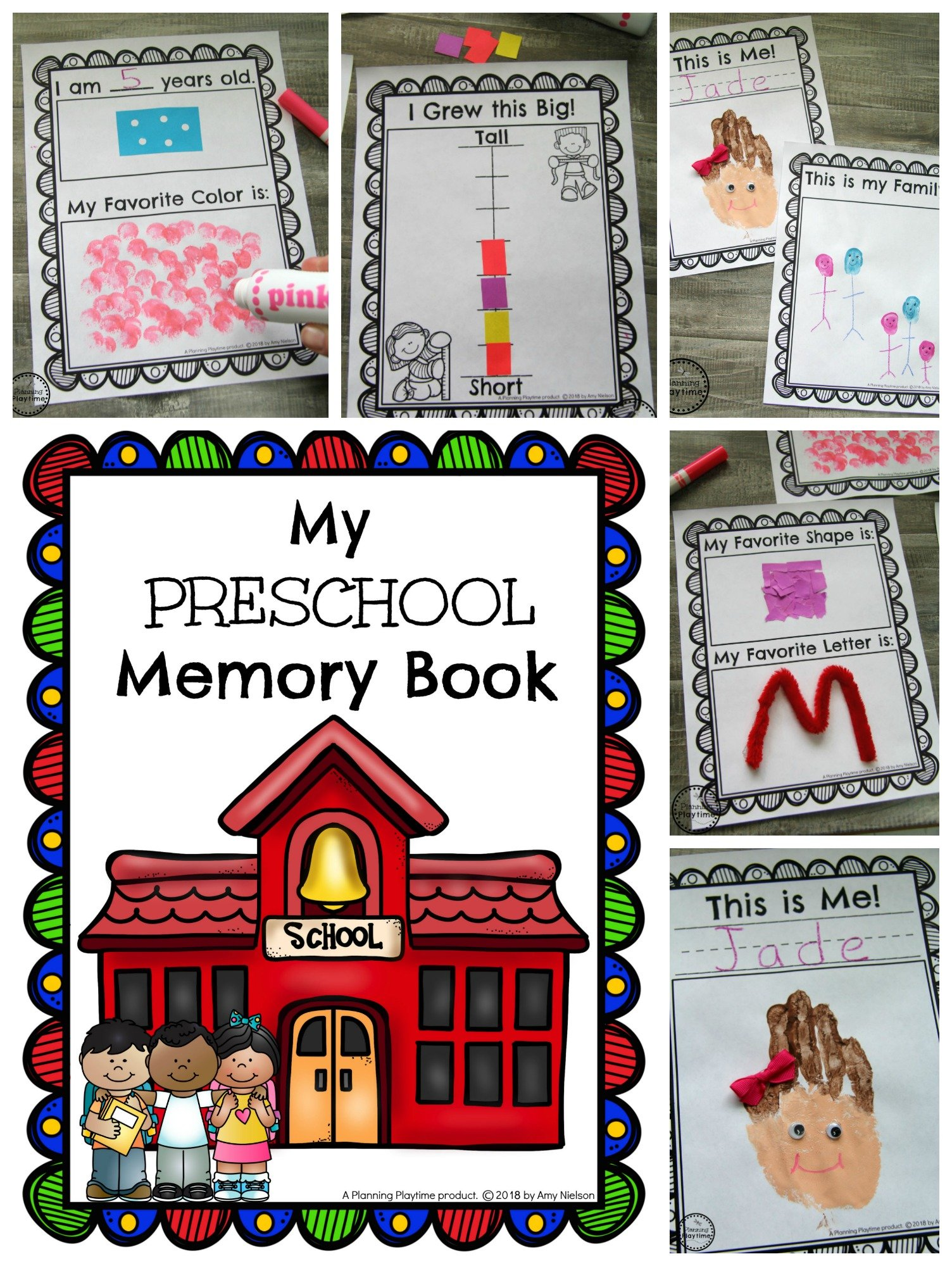 Preschool Memory Book Preview #preschool #kindergarten #memorybook