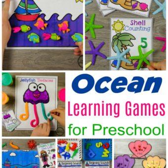Preschool Ocean Theme Activities #preschool #oceantheme #preschoolactivities #preschoolcenters #planningplaytime