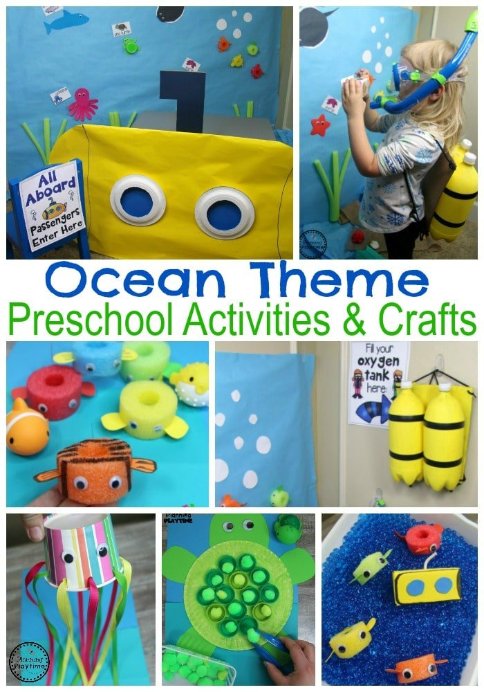 Preschool Ocean Theme Dramatic Play Area #preschool #dramaticplay #underthesea #oceantheme