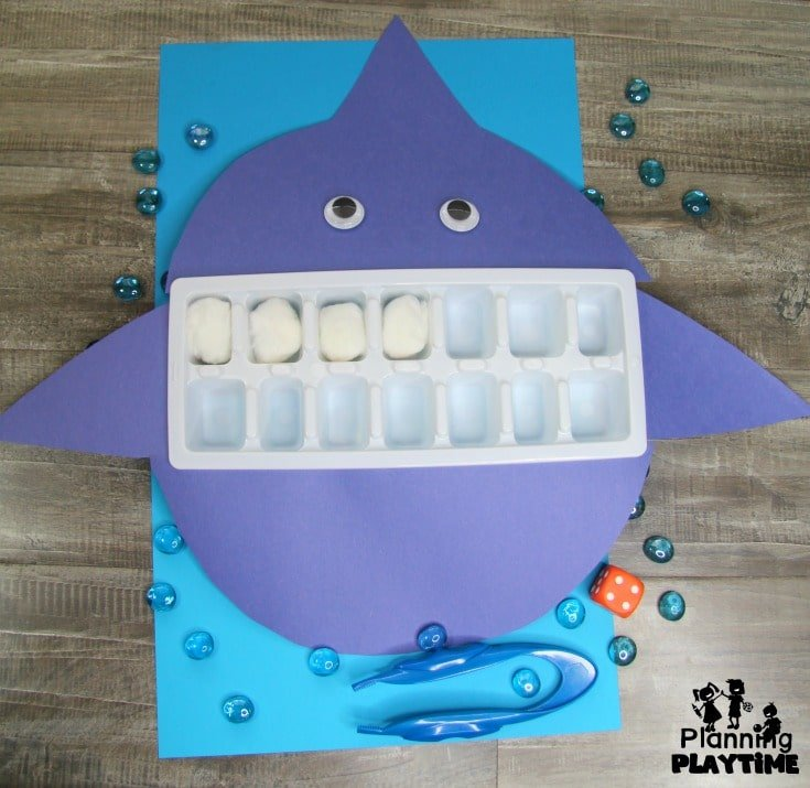 Shark Teeth Counting - Preschool Ocean Activities #preschool #dramaticplay #underthesea #oceantheme