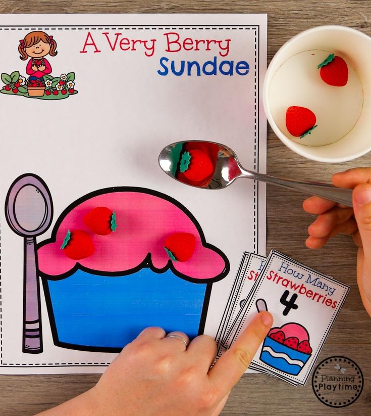 Preschool Centers for an Ice Cream Theme