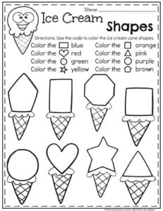 image relating to Printable Shapes for Preschoolers identify Ice Product Topic - Building Playtime