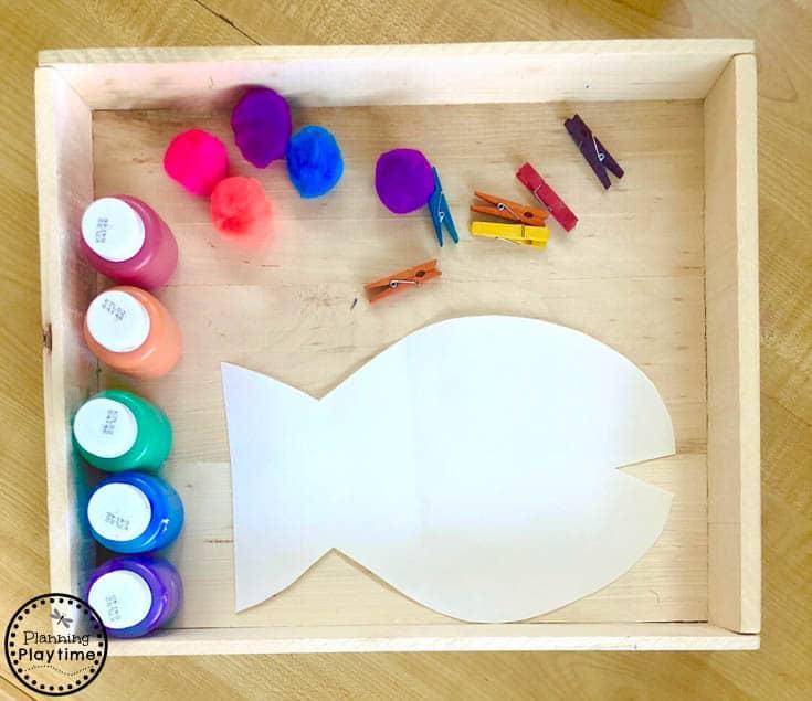 Rainbow Fish Craft for Kids - Preschool Art