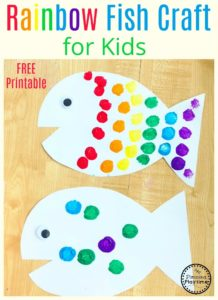 Rainbow Fish Craft for Preschool Kids #rainbowfish #preschoolcraft #fishcraft #rainbowcraft