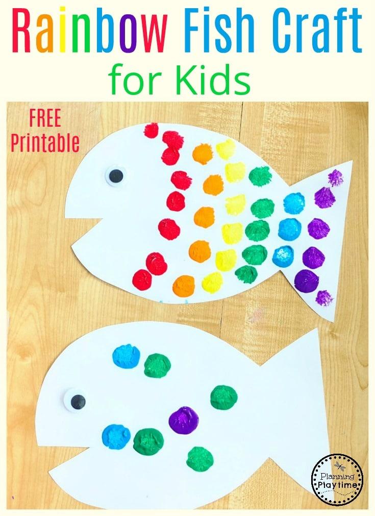Rainbow Fish Craft for Preschool Kids #rainbowfish #preschoolcraft #fishcraft #rainbowcraft