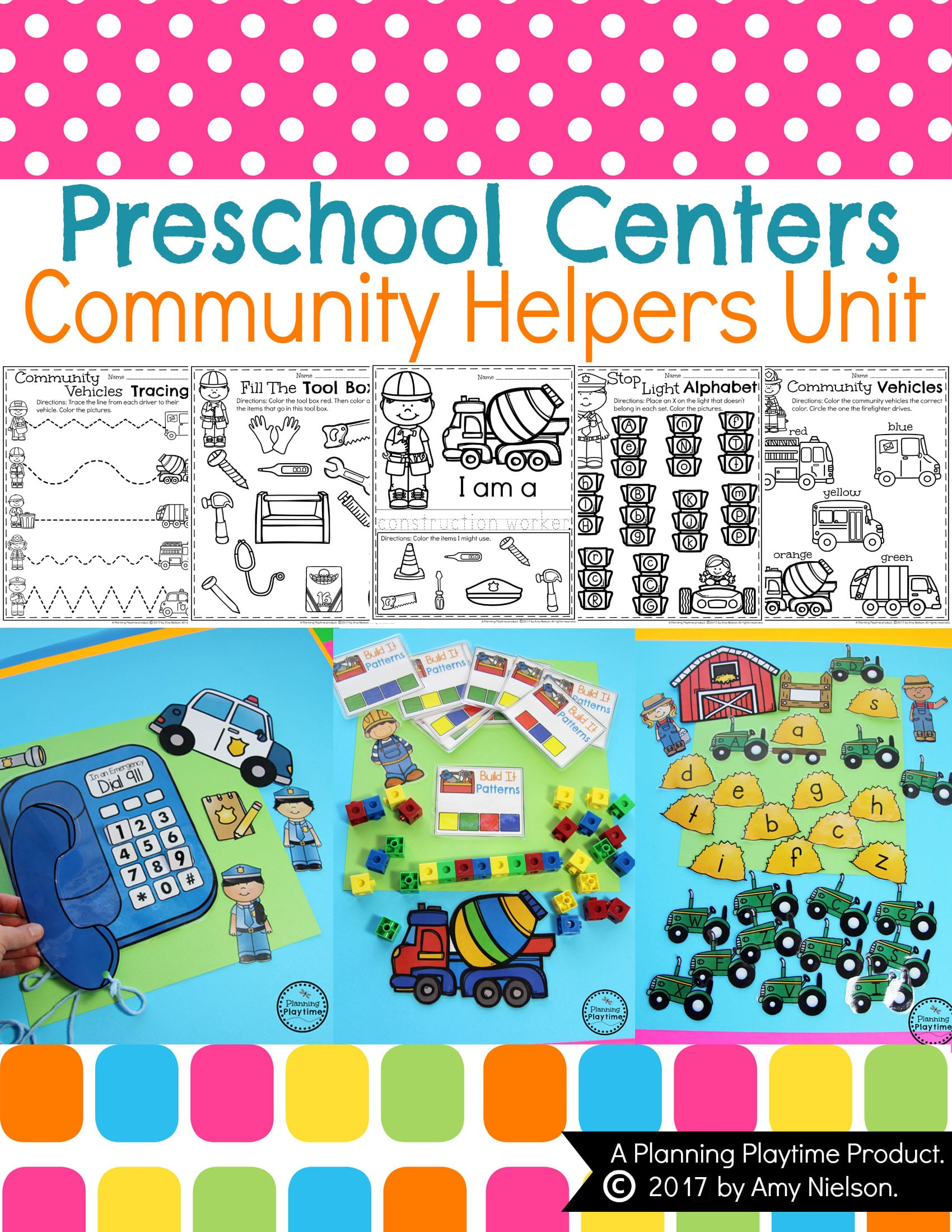 Preschool Themes - Bundle #1 - Planning Playtime