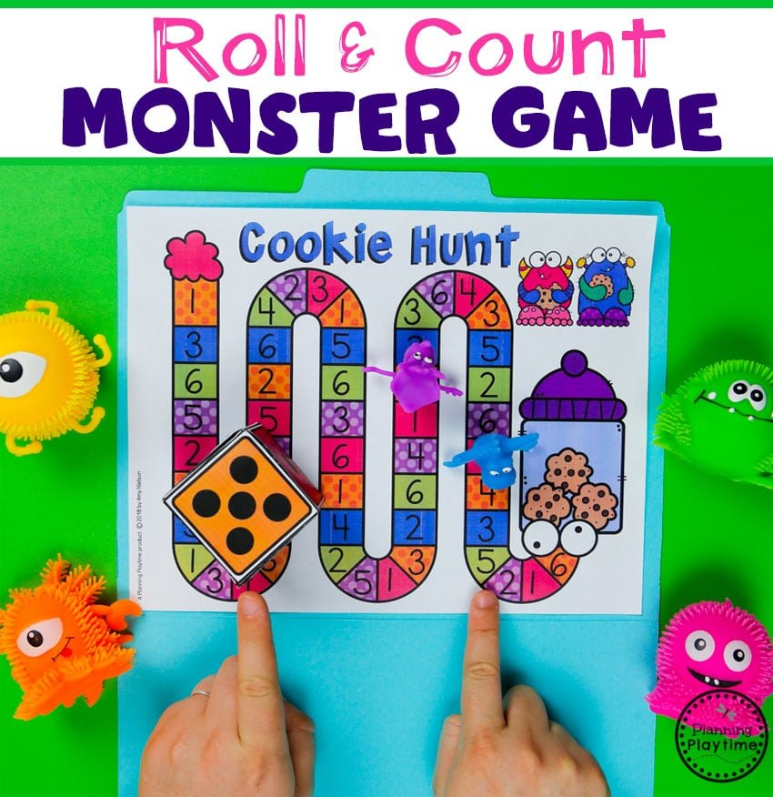 Preschool Counting Game - Monster Theme #backtoschool #monstertheme #preschool #planningplaytime
