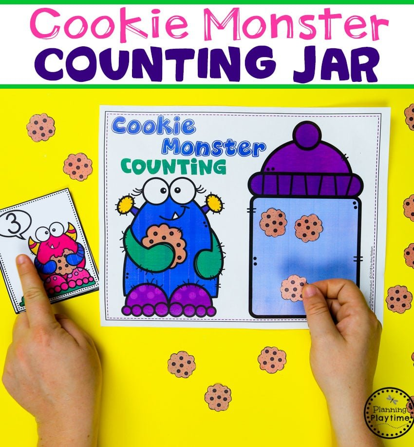 Preschool Counting Games - Monster Theme. Fun math ideas for kids. #backtoschool #monstertheme #preschool #planningplaytime