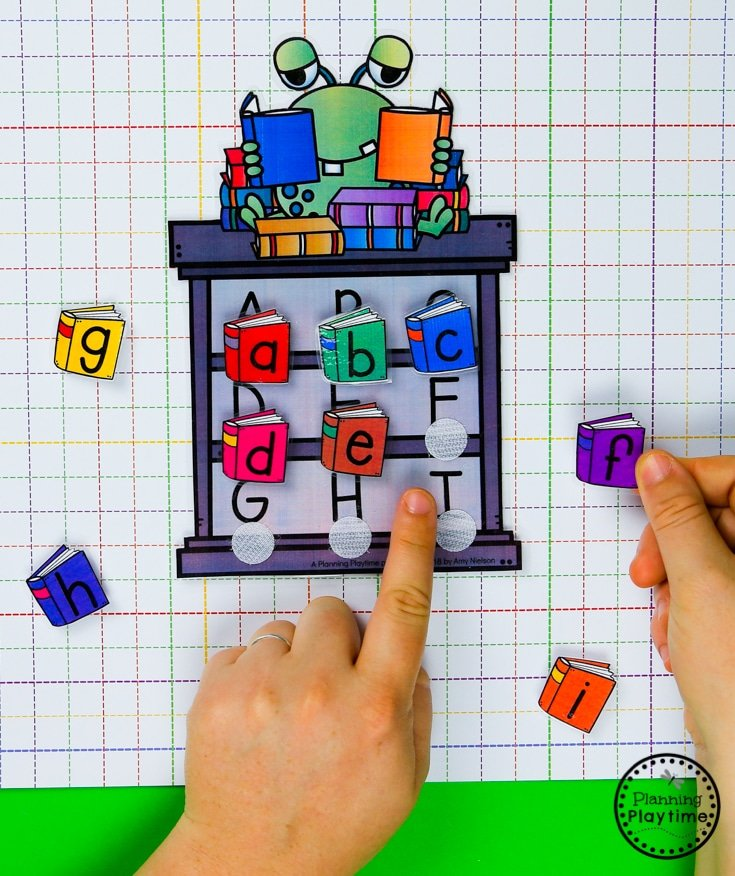 Preschool Letter Matching - Alphabet Game #backtoschool #monstertheme #preschool #planningplaytime