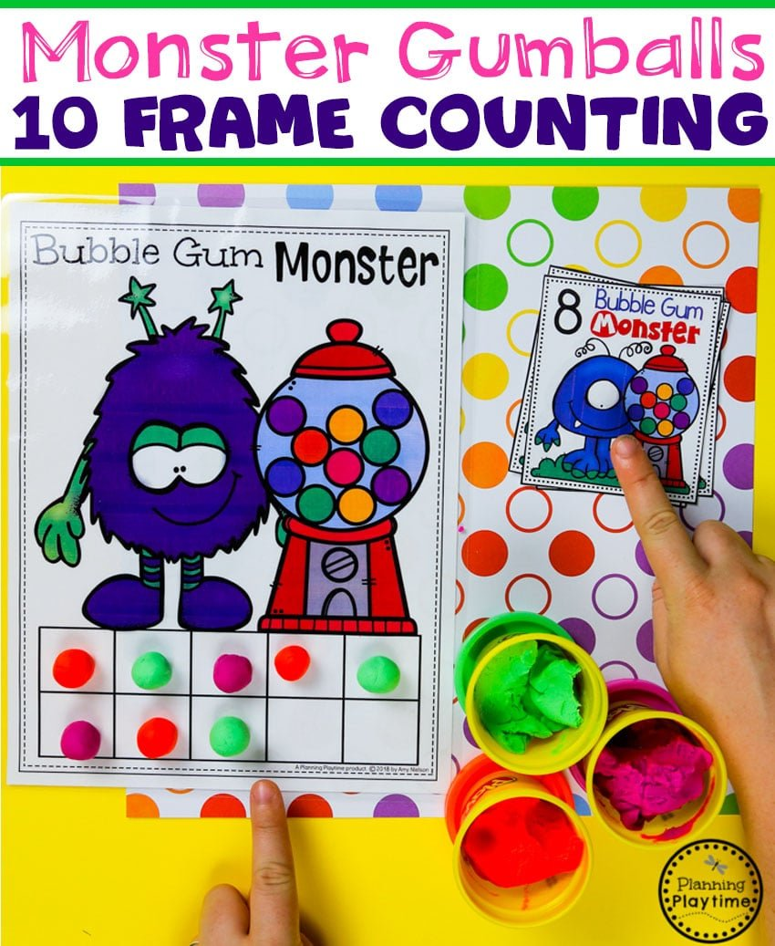 Preschool Monster Theme - 10 Frames Counting Game#backtoschool #monstertheme #preschool #planningplaytime