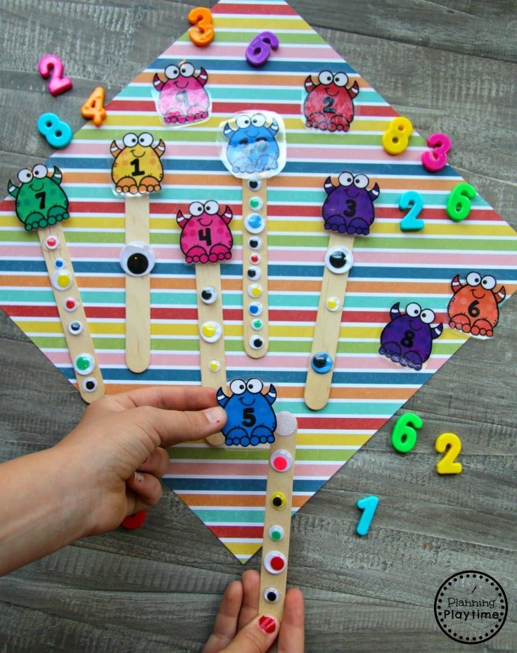 Preschool Monster Theme - Counting Acti #backtoschool #monstertheme #preschool #planningplaytimevities for Kids