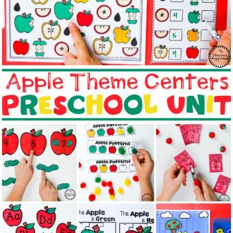 Apple Theme for Preschool #preschool #preschoolworksheets #appletheme #appleworksheets #planningplaytime