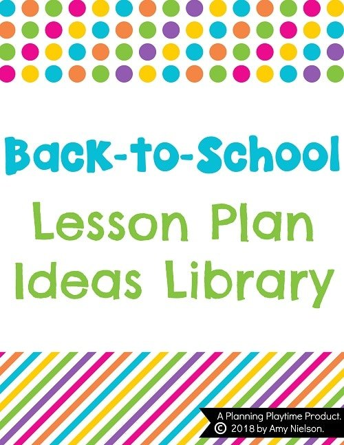 lesson plan ideas back to school planning playtime