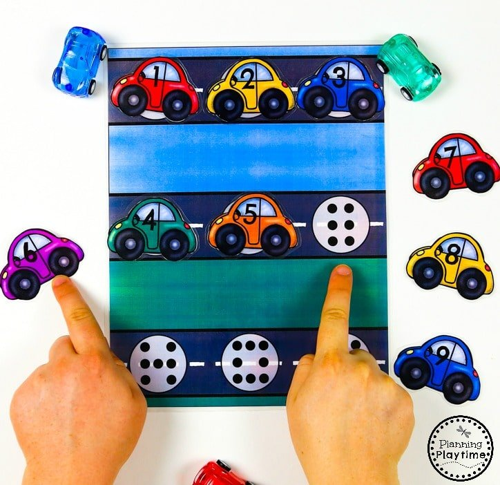 Car Count and Match Activity for Preschool