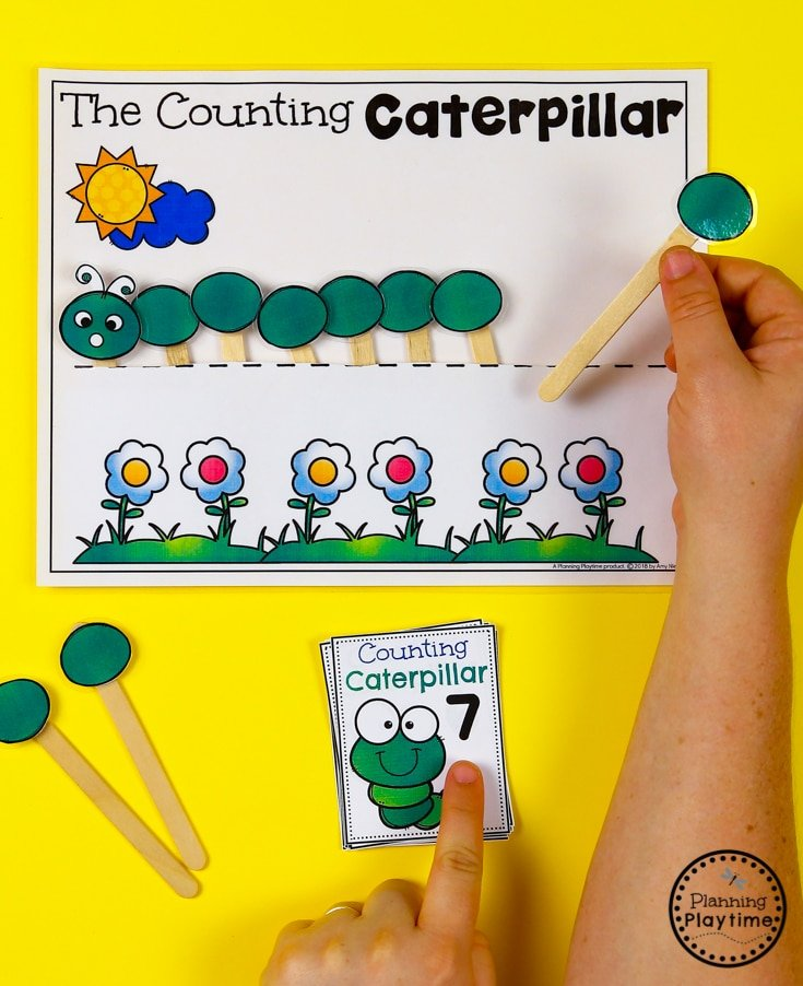 Caterpillar Counting Pocket Activity