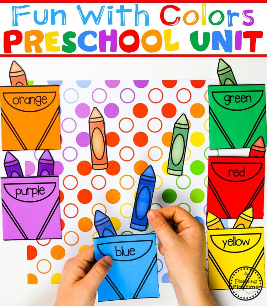 Color Matching Game for Preschool #preschool #colorrecognition #planningplaytime #colorsorting