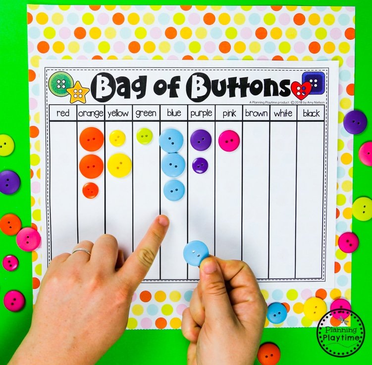 Color Sorting Game for Preschool #preschool #colorrecognition #planningplaytime
