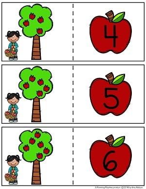 Counting Centers Fall - Preschool #preschool #counting #preschoolmath #planningplaytime