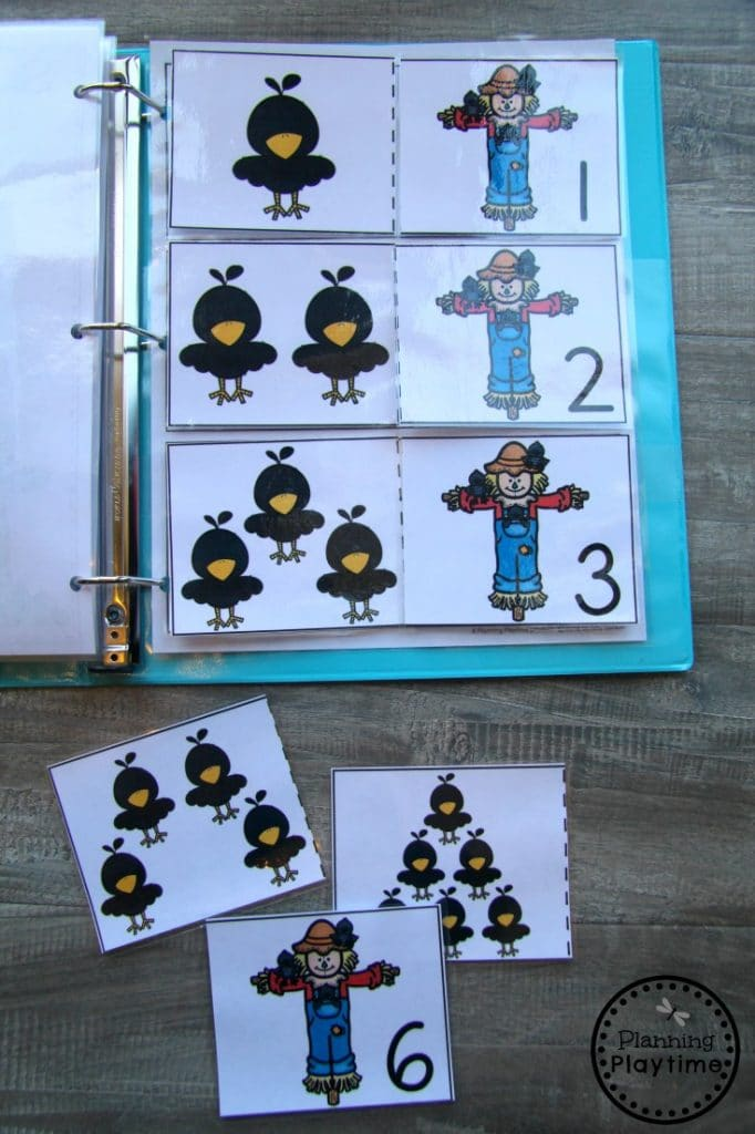 Fall Counting Activities for Preschool - Interactive Binder