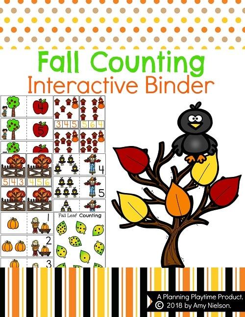 Fall Preschool Math Interactive Binder Cover