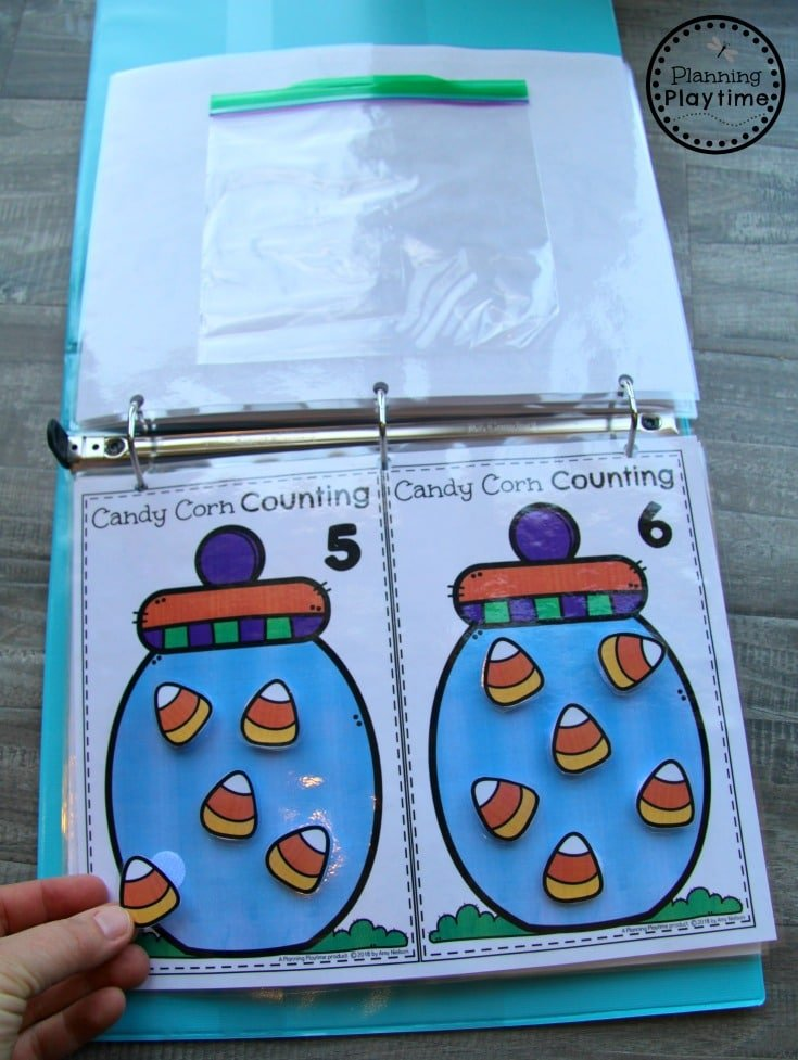 Fun Fall Counting Activities for Preschool - Interactive Binder