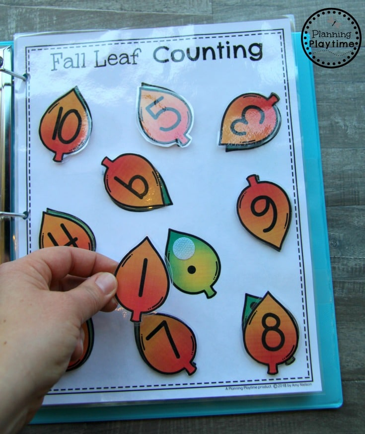 Fun Fall Interactive Math Binder for Preschool