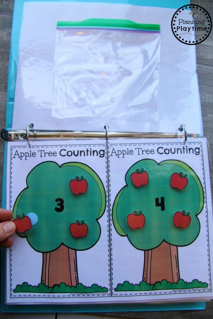 Fun Fall Preschool Counting Interactive Binder