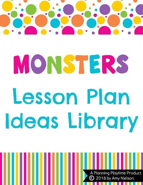 lesson plan ideas monsters planning playtime
