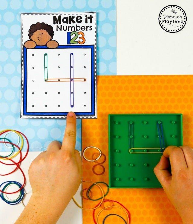 Number Formation Activities - Preschool Math Unit#preschool #planningplaytime #preschoolmath