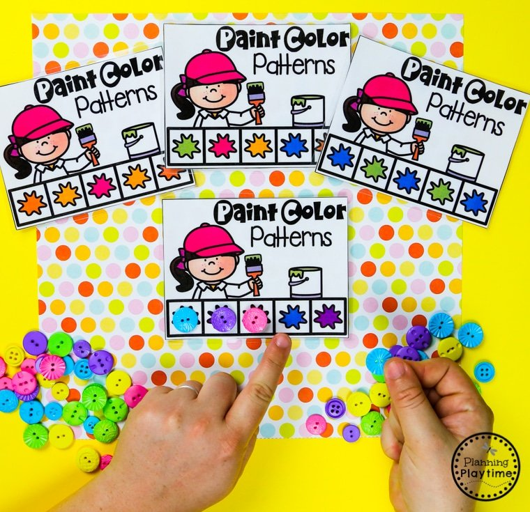 Preschool Color Games - Color Patterns #preschool #colorrecognition #planningplaytime