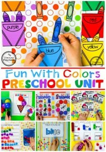Preschool Colors Unit - All About Colors #preschool #colorrecognition #planningplaytime