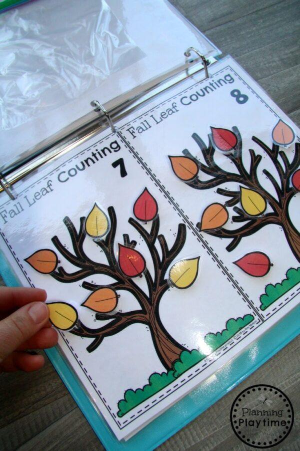 Preschool Counting Activities for Fall - Interactive Binder