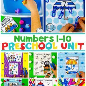 Preschool Math Unit - Numbers and Counting #preschool #planningplaytime #preschoolmath