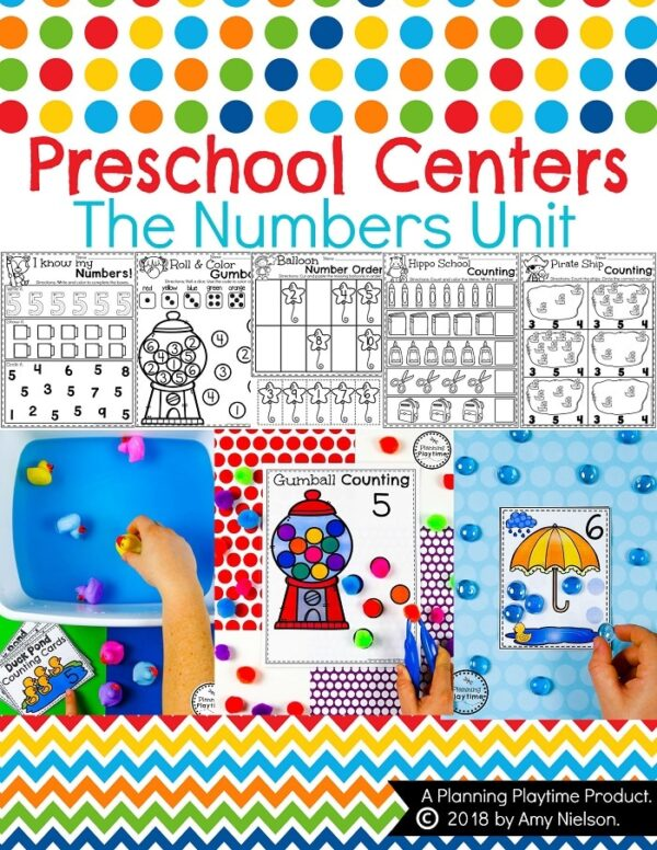 Preschool Numbers Math Unit