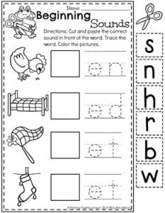 Beginning Sounds Worksheets for Kindergarten - CVC Words Literacy Unit 2 #CVCwords #kindergarten #planningplaytime #kindergartenworksheets