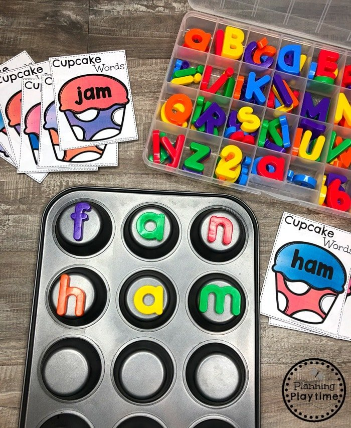 CVC Words Kindergarten Word Work #cvcwords #planningplaytime #kindergarten