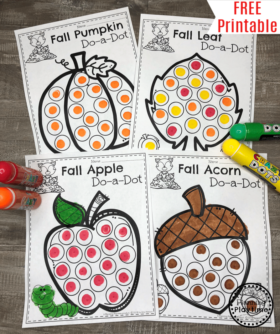 Fall Coloring Pages Planning Playtime