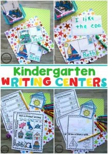 Kindergarten Writing Centers, Prompts and Worksheets
