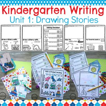 Kindergarten Writing Unit 1 Cover