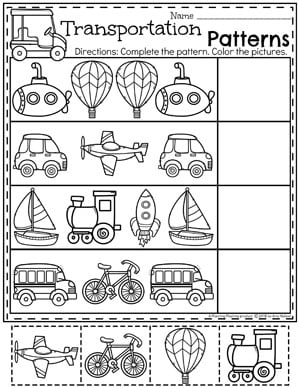 transportation worksheets planning playtime. Black Bedroom Furniture Sets. Home Design Ideas
