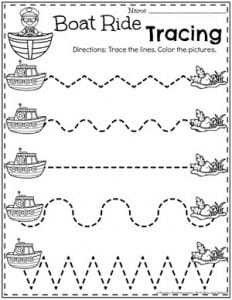 Preschool Transportation Worksheets - Tracing #preschool #preschoolworksheets #planningplaytime #tracingworksheets