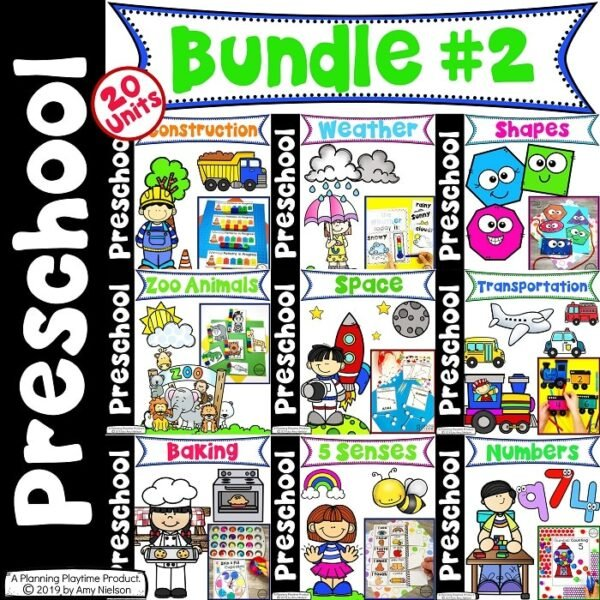 Preschool Units Bundle - Preschool Curriculum and Activities for Kids