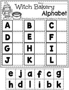 Halloween Worksheets for Preschool - Letter Matching worksheets I #halloweenworksheets #preschoolworksheets #planningplaytime #letterworksheets